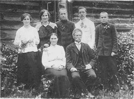 Grandfather Karlis and his family, circa 1914
